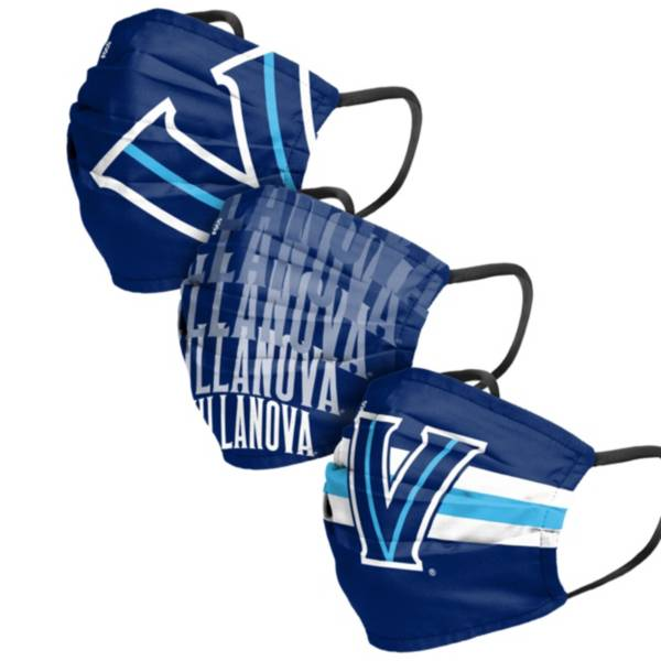 FOCO Adult Villanova Wildcats 3-Pack Matchday Face Coverings product image