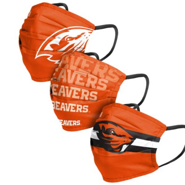 FOCO Adult Oregon State Beavers 3-Pack Face Coverings product image