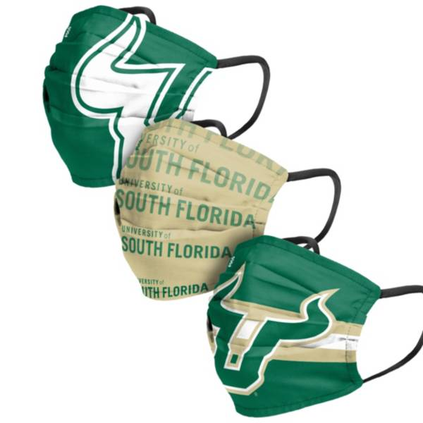 FOCO Adult South Florida Bulls 3-Pack Face Coverings product image