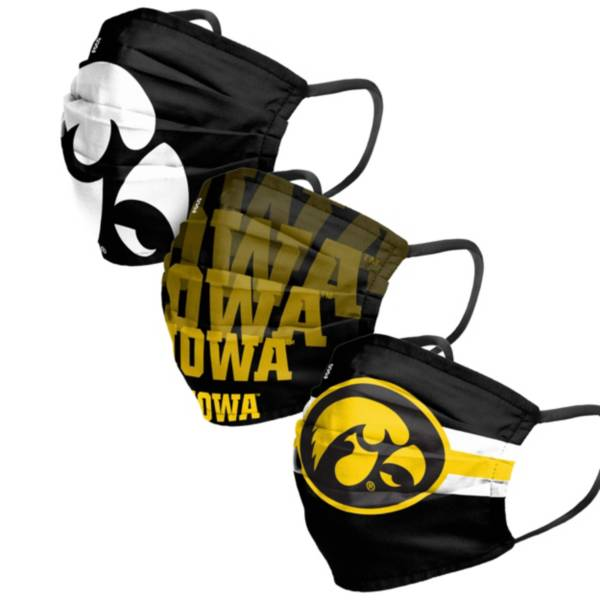 FOCO Adult Iowa Hawkeyes 3-Pack Matchday Face Coverings product image