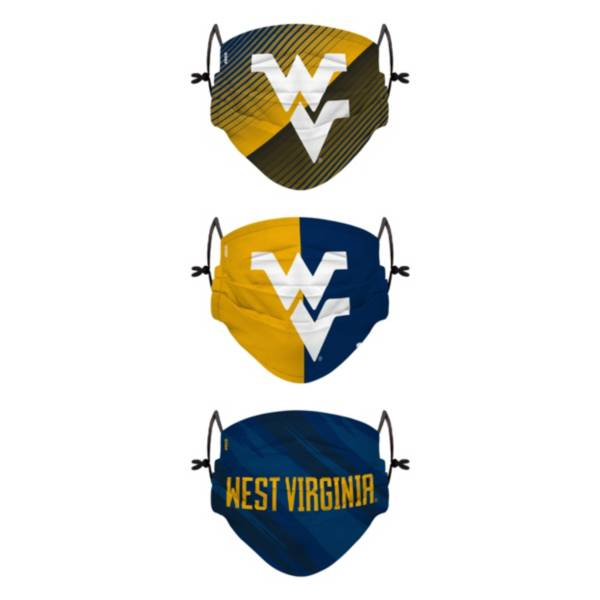 FOCO Youth West Virginia Mountaineers 3-Pack Face Coverings product image