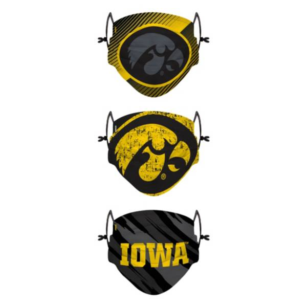 FOCO Youth Iowa Hawkeyes 3-Pack Face Coverings product image