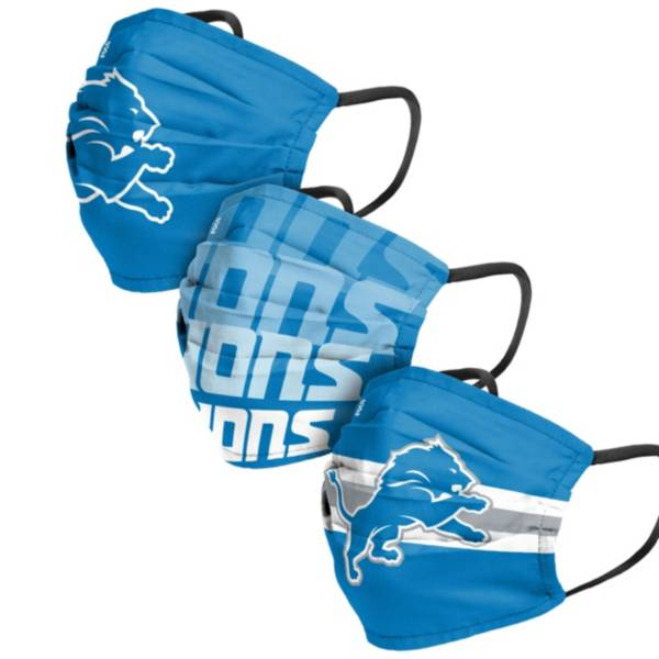 FOCO Adult Detroit Lions 3-Pack Matchday Face Coverings product image
