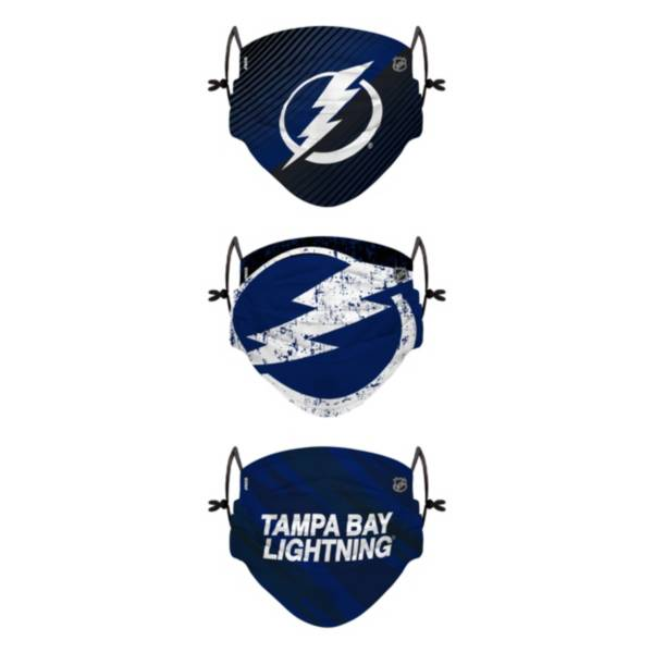 FOCO Youth Tampa Bay Lightning Adjustable 3-Pack Face Coverings product image