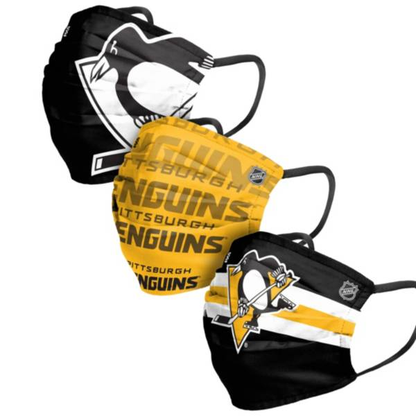 FOCO Adult Pittsburgh Penguins 3-Pack Matchday Face Coverings product image