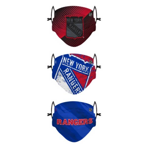 FOCO Youth New York Rangers Adjustable 3-Pack Face Coverings product image