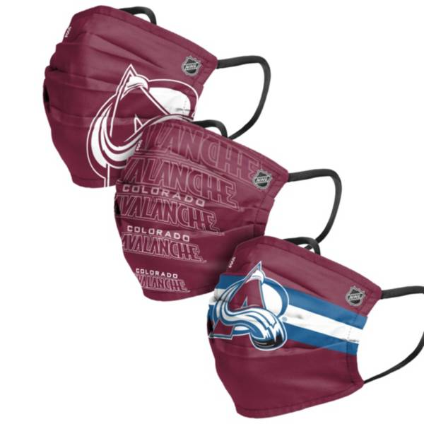 FOCO Adult Colorado Avalanche 3-Pack Matchday Face Coverings product image
