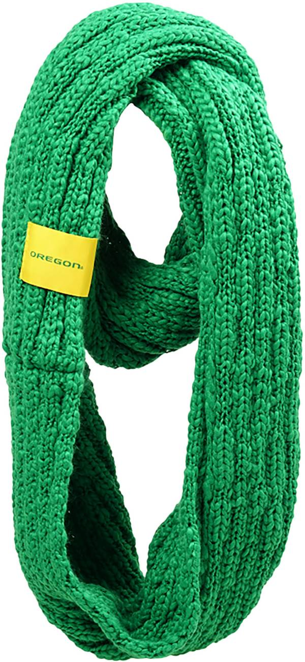FOCO Oregon Ducks Cable Knit Infinity Scarf product image