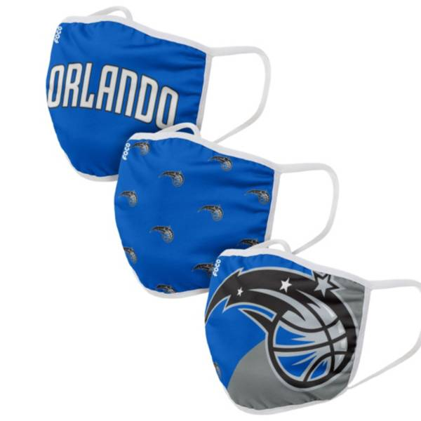 FOCO Youth Orlando Magic 3-Pack Face Coverings product image