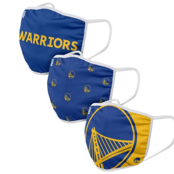 FOCO Youth Golden State Warriors 3-Pack Face Masks product image