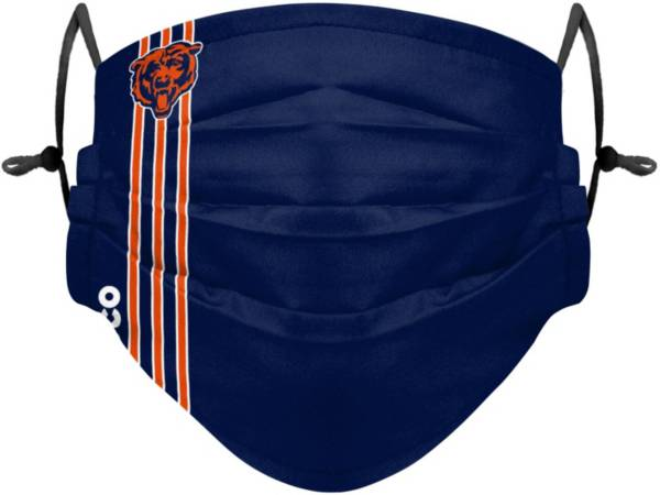 FOCO Youth Chicago Bears On-Field Sideline Stripe Adjustable Face Covering product image
