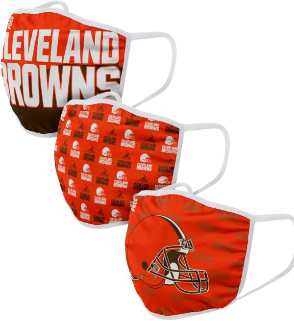 FOCO Youth Cleveland Browns 3-Pack Face Masks product image