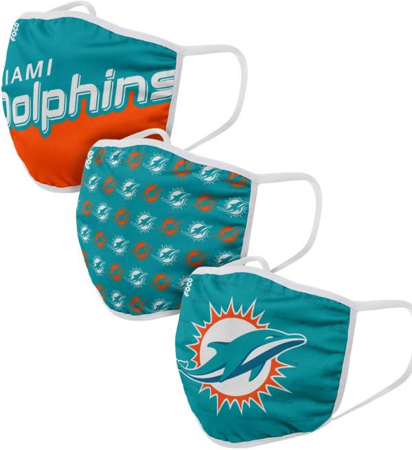 FOCO Youth Miami Dolphins 3-Pack Face Coverings product image