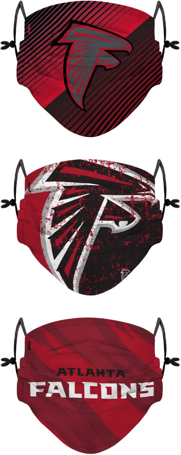 FOCO Youth Atlanta Falcons Adjustable 3-Pack Face Coverings product image
