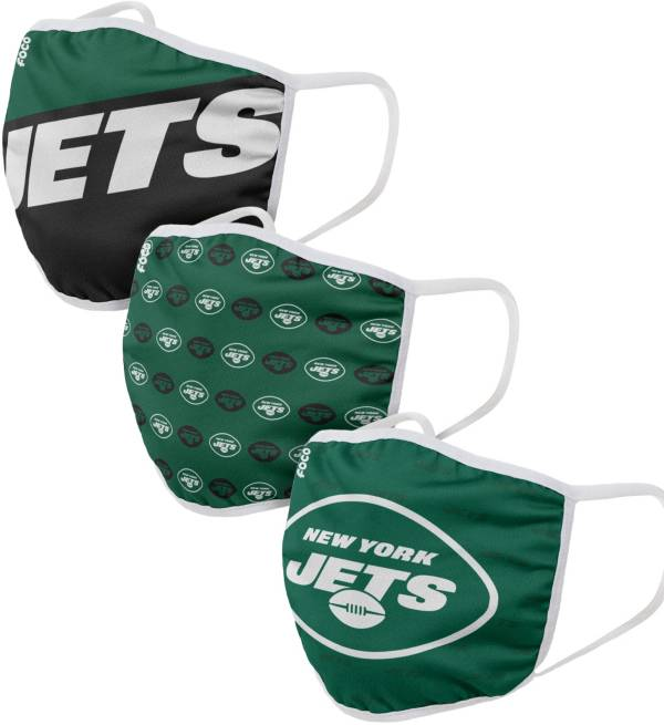 FOCO Youth New York Jets 3-Pack Face Coverings product image