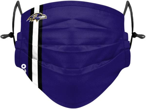 FOCO Youth Baltimore Ravens On-Field Sideline Stripe Adjustable Face Covering product image