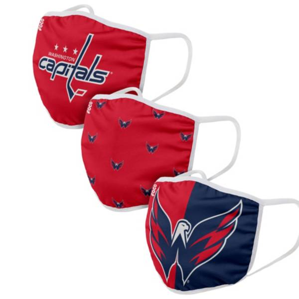 FOCO Youth Washington Capitals 3-Pack Face Coverings product image