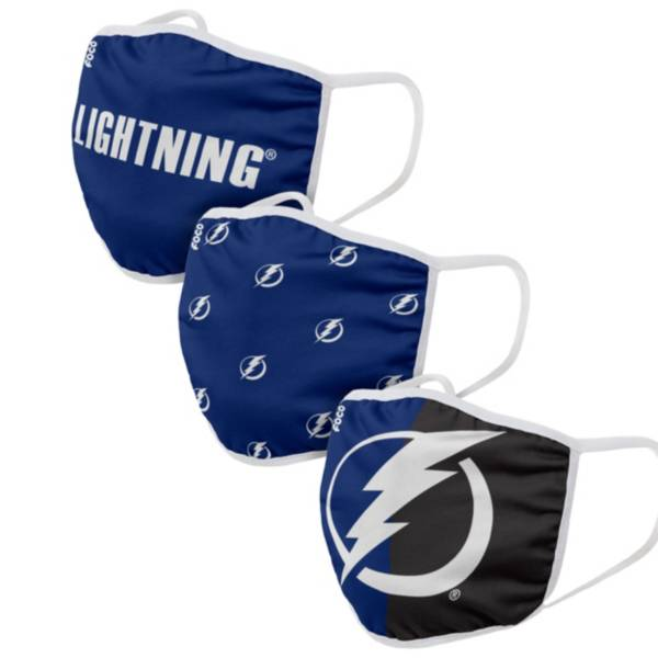 FOCO Youth Tampa Bay Lightning 3-Pack Facemasks product image