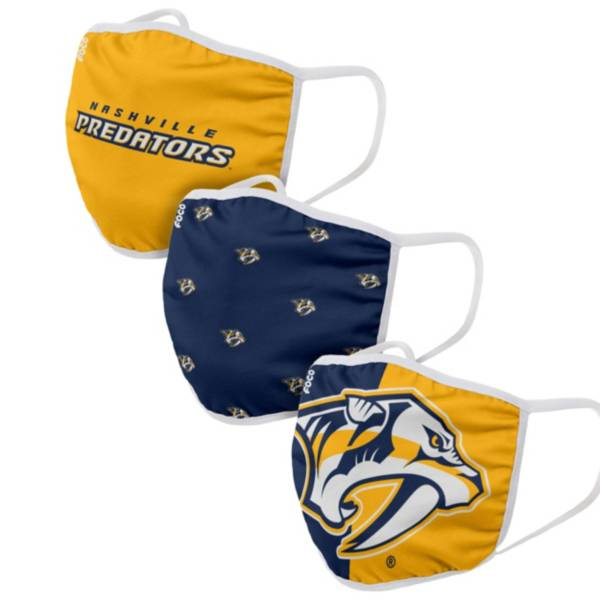 FOCO Youth Nashville Predators 3-Pack Face Coverings product image