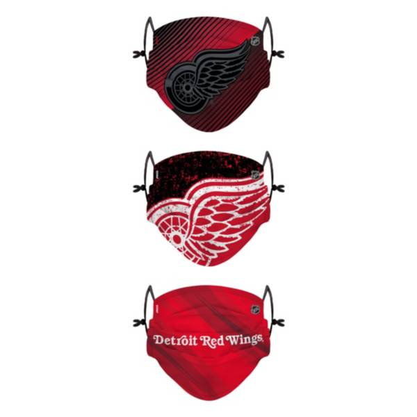 FOCO Youth Detroit Red Wings Adjustable 3-Pack Face Coverings product image