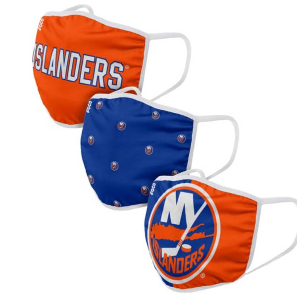 FOCO Youth New York Islanders 3-Pack Facemasks product image