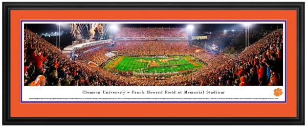 Blakeway Panoramas Clemson Tigers Double Mat Deluxe Frame product image