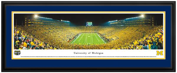 Blakeway Panoramas Michigan Wolverines Double Mat Deluxe Frame product image
