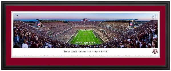 Blakeway Panoramas Texas A&M Aggies Double Mat Deluxe Frame product image