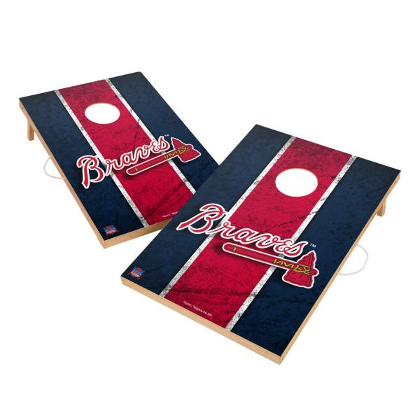 Victory Tailgate Atlanta Braves 2' x 3' Solid Wood Cornhole Boards product image
