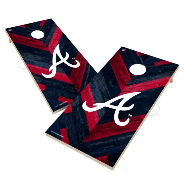 Victory Tailgate Atlanta Braves 2' x 4' Solid Wood Cornhole Boards product image