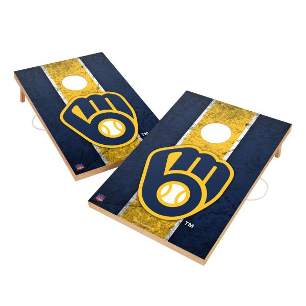 Victory Tailgate Milwaukee Brewers 2' x 3' Solid Wood Cornhole Boards product image