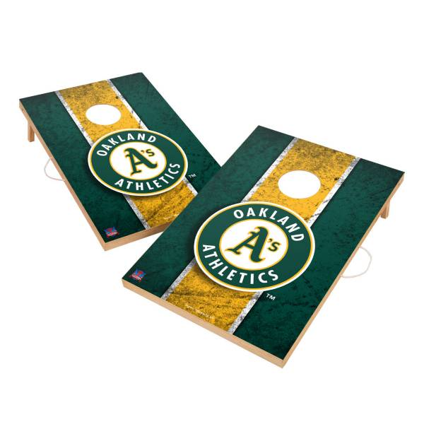Victory Tailgate Oakland Athletics 2' x 3' Solid Wood Cornhole Boards product image