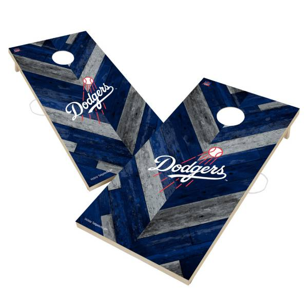 Victory Tailgate Los Angeles Dodgers 2' x 4' Solid Wood Cornhole Boards product image