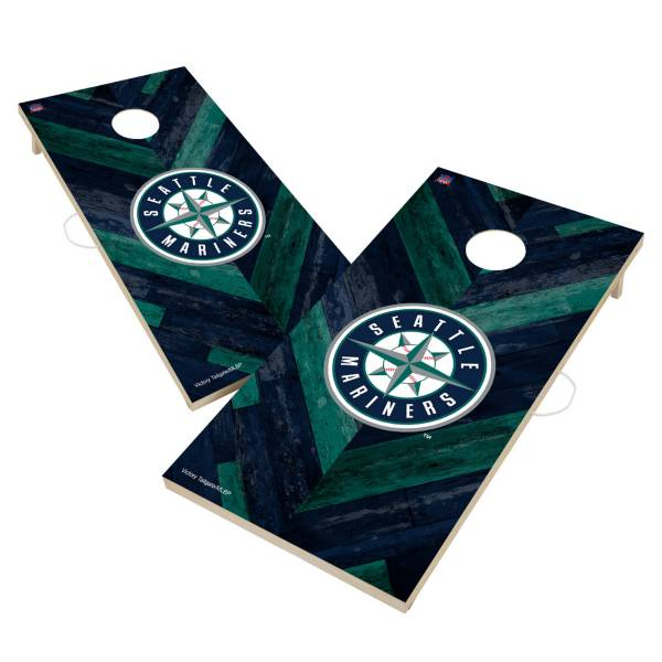 Victory Seattle Mariners 2' x 4' Solid Wood Cornhole Boards product image