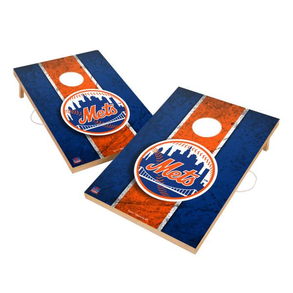 Victory New York Mets 2' x 3' Solid Wood Cornhole Boards product image