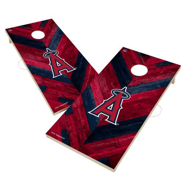 Victory Tailgate Los Angeles Angels 2' x 4' Solid Wood Cornhole Boards product image