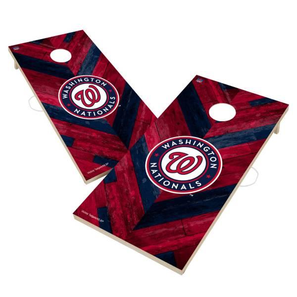 Victory Tailgate Washington Nationals 2' x 4' Solid Wood Cornhole Boards product image