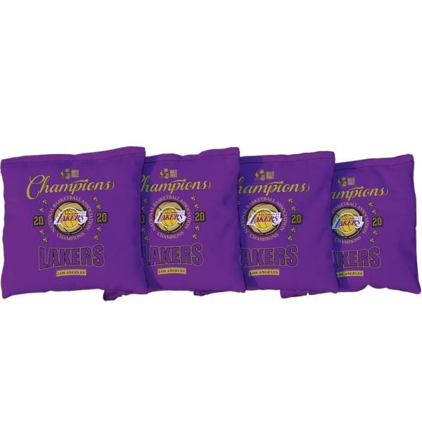 Victory Tailgate 2020 NBA Finals Champions Los Angeles Lakers Cornhole 4-Pack Purple Bean Bags product image