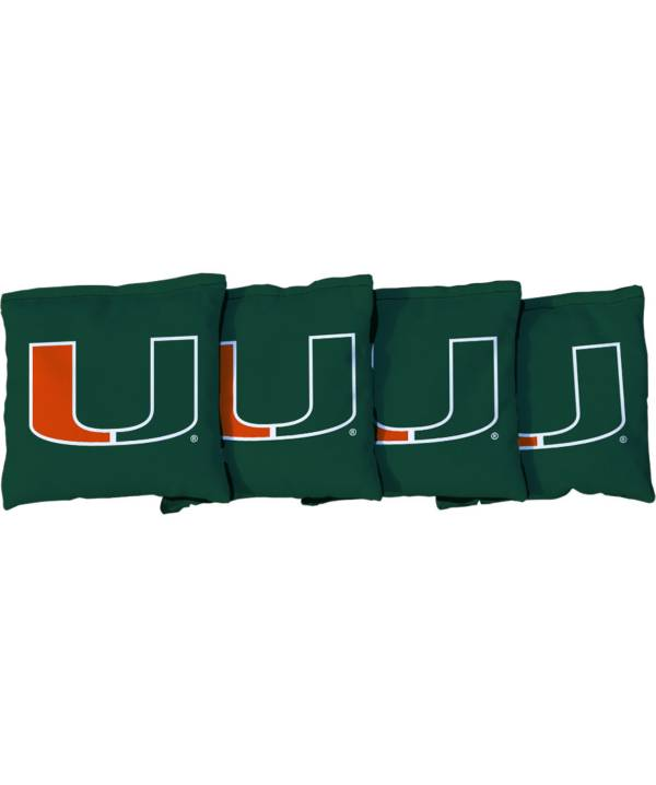 Victory Tailgate Miami Hurricanes Cornhole 4-Pack Bean Bags product image