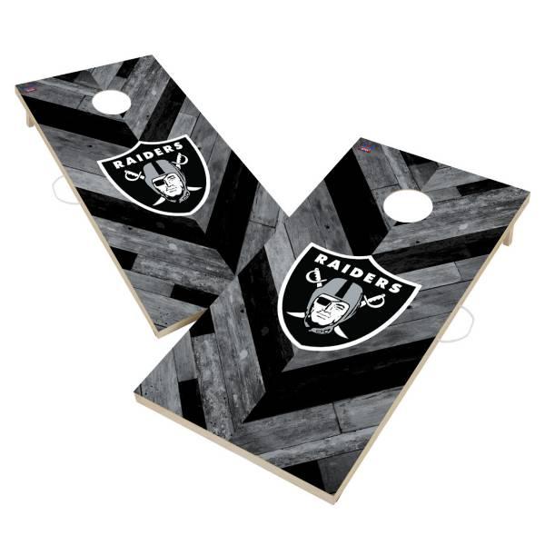 Victory Tailgate Las Vegas Raiders 2' x 4' Solid Wood Cornhole Boards product image