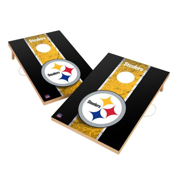 Victory Tailgate Pittsburgh Steelers 2' x 3' Solid Wood Cornhole Boards product image