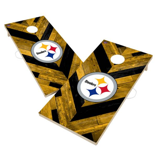 Victory Tailgate Pittsburgh Steelers 2' x 4' Solid Wood Cornhole Boards product image