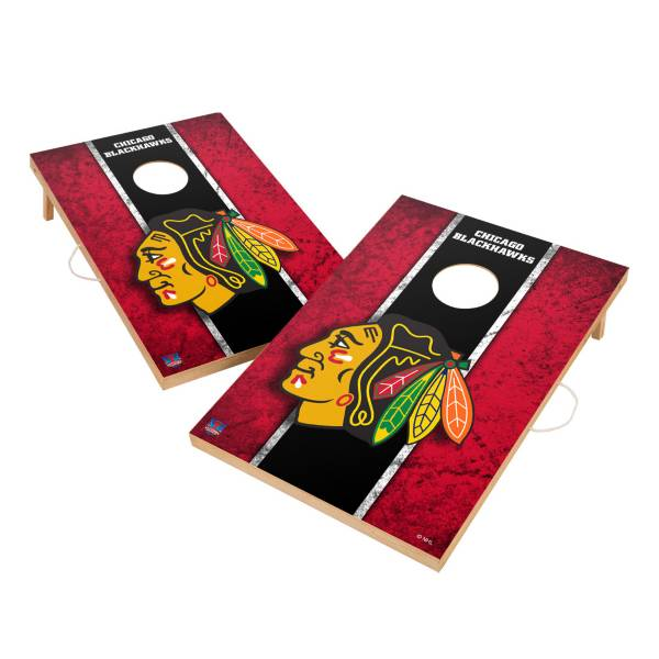 Victory Tailgate Chicago Blackhawks 2' x 3' Solid Wood Cornhole Boards product image