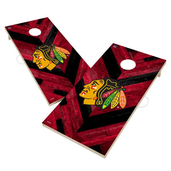 Victory Tailgate Chicago Blackhawks 2' x 4' Solid Wood Cornhole Boards product image