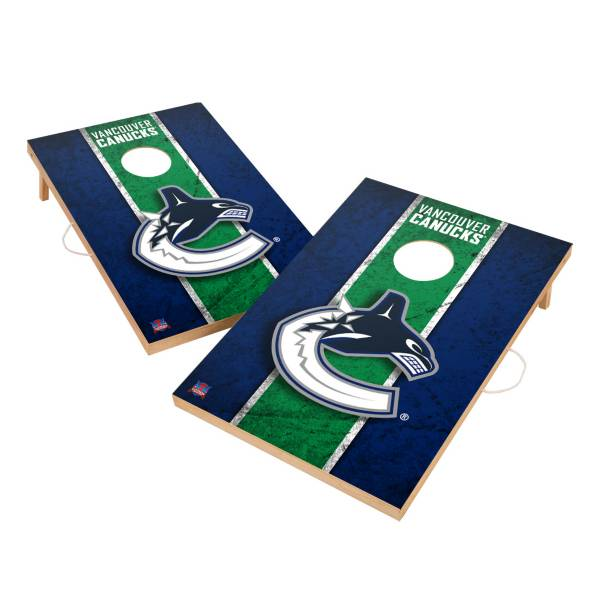 Victory Vancouver Canucks 2' x 3' Solid Wood Cornhole Boards product image