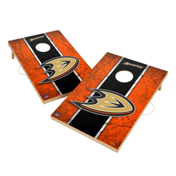 Victory Tailgate Anaheim Ducks 2' x 3' Solid Wood Cornhole Boards product image