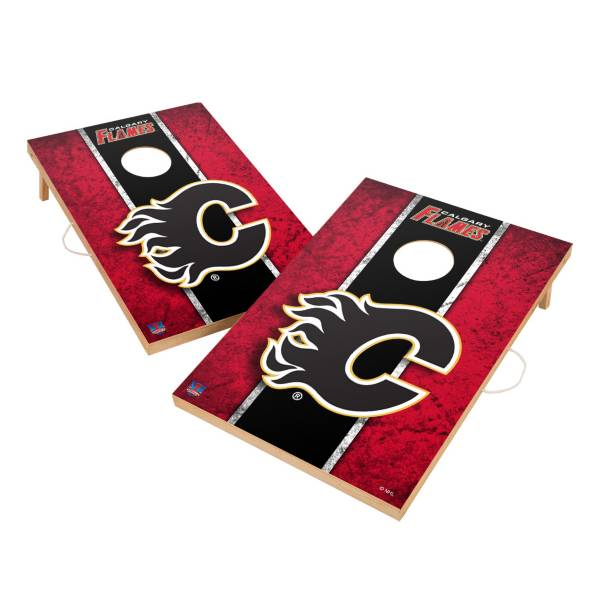 Victory Tailgate Calgary Flames 2' x 3' Solid Wood Cornhole Boards product image
