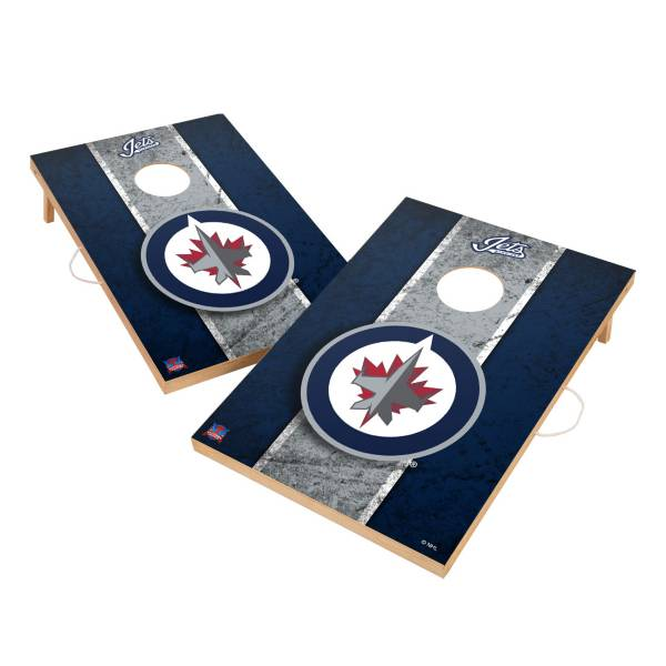 Victory Winnipeg Jets 2' x 3' Solid Wood Cornhole Boards product image
