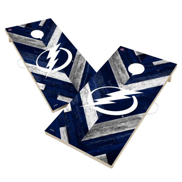 Victory Tampa Bay Lightning 2' x 4' Solid Wood Cornhole Boards product image