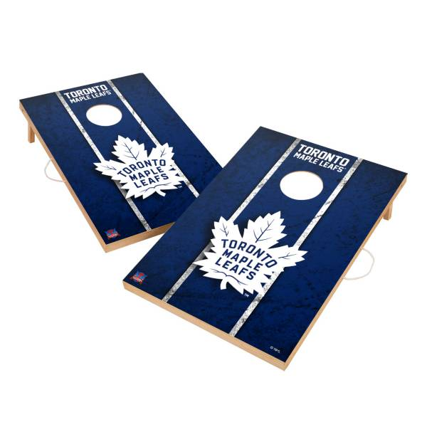 Victory Toronto Maple Leafs 2' x 3' Solid Wood Cornhole Boards product image